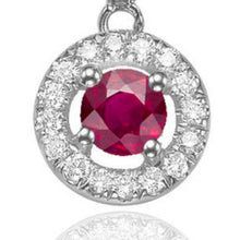 "Load image into Gallery viewer, 0.6 TCW 14K White Gold Ruby ""Carole"" Earrings"