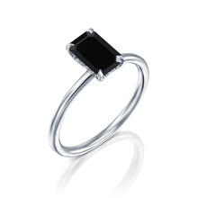 "Load image into Gallery viewer, 1.5 Carat 14K Yellow Gold Black Diamond ""Catherine"" Ring"
