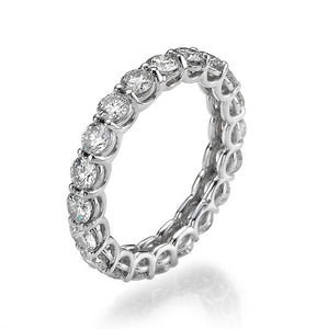 "2.20 TCW 14K White Gold Diamond ""Ines"" Wedding Ring"