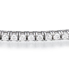 Load image into Gallery viewer, 1.2 TCW 14K White Gold Diamond Tennis Bracelet