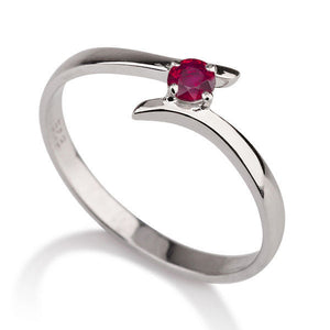 0.2 Carat 14K White Gold Ruby