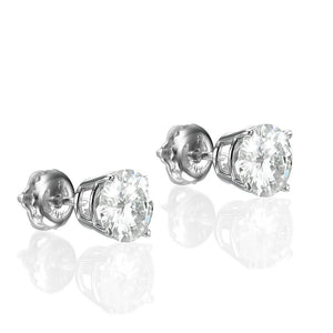 "2.4 Carat 14K White Gold Forever Classic Moissanite ""Davina"" Earrings"