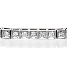 "Load image into Gallery viewer, 1.1 TCW 14K White Gold Diamond ""Mariah"" Bracelet"