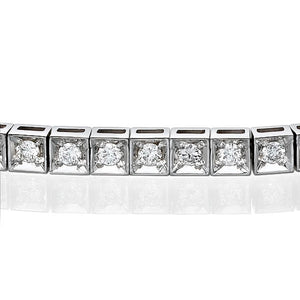"1.1 TCW 14K White Gold Diamond ""Mariah"" Bracelet"