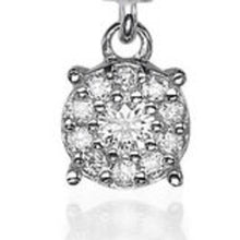 "Load image into Gallery viewer, 0.2 Carat 14K White Gold Diamond ""Alaina"" Earrings"