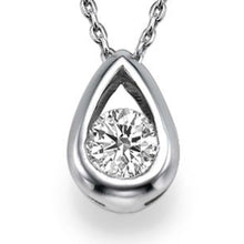 "Load image into Gallery viewer, 0.5 TCW 14K White Gold Diamond ""Janey"" Pendant 