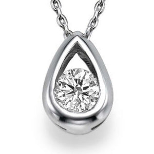 "0.5 TCW 14K White Gold Diamond ""Janey"" Pendant"