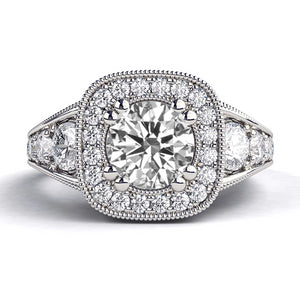 "1.8 Carat 14K White Gold Diamond ""Elizabeth"" Engagement Ring"