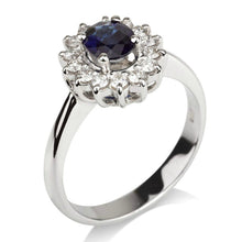 "Load image into Gallery viewer, 1.2 Carat 14K Yellow Gold Blue Sapphire & Diamonds ""Yvette"" Engagement Ring"