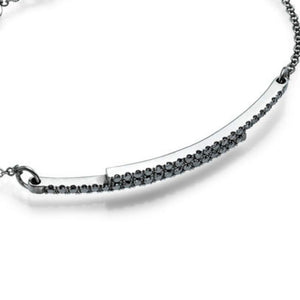 "0.4 TCW 18K White Gold Black Diamond ""Claudia"" Bracelets 