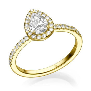 1.4 Carat 14K Yellow Gold Moissanite & Diamonds