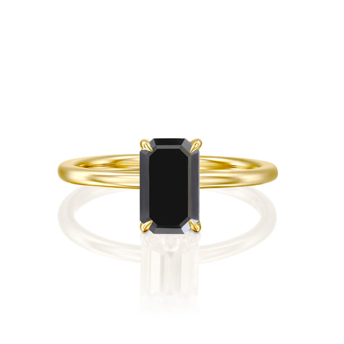 1.5 Carat 14K Yellow Gold Black Diamond