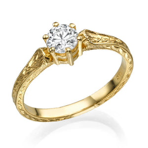 "1.2 Carat 14K Yellow Gold Moissanite ""Sarah"" Engagement Ring"