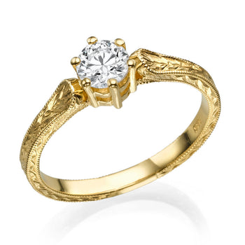 1.2 Carat 14K Yellow Gold Moissanite