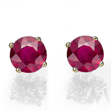 "Load image into Gallery viewer, 0.4 Carat 14K Yellow Gold Ruby ""Una"" Earrings"