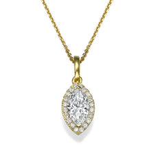"Load image into Gallery viewer, 0.9 TCW 14K White Gold Diamond ""Kristen"" Pendant"