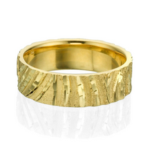 Load image into Gallery viewer, 6MM 14K Yellow Gold Designer Pattern Wedding Band