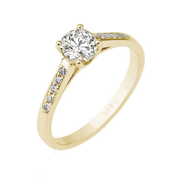 0.55 Carat 14K Yellow Gold Moissanite