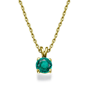 "0.3 Carat 14K Yellow Gold Emerald ""Nina"" Pendant"