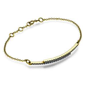 "0.4 TCW 14K White Gold Black Diamond ""Claudia"" Bracelets"