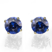 "Load image into Gallery viewer, 0.4 Carat 14K White Gold Blue Sapphire ""Una"" Earrings 
