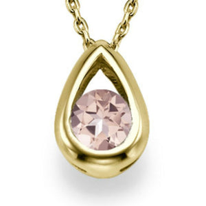 "0.5 TCW 14K White Gold Morganite  ""Janey"" Pendant 