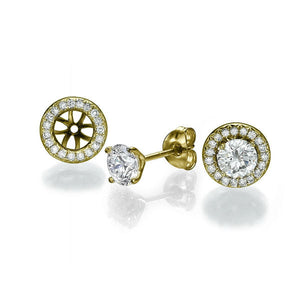 "2 Carat 14K Yellow Gold Diamond ""Marian"" Earrings"