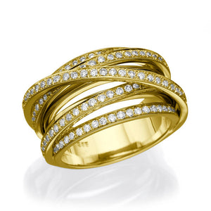 "1.5 TCW 14K Yellow Gold Diamond ""Ella"" Wedding Band"