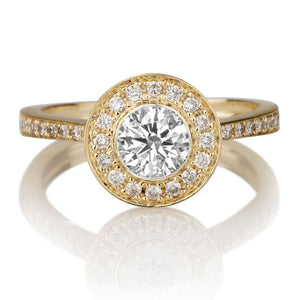 "1 Carat 14K Yellow Gold Diamond ""Julianne"" Engagement Ring"