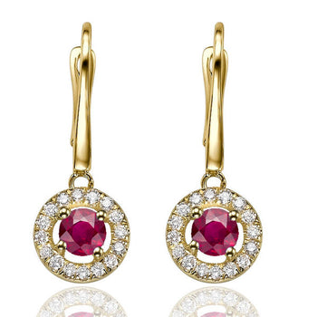 0.6 TCW 14K Yellow Gold Ruby