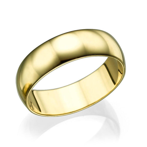 6MM 14K Yellow Gold Classic Men Wedding Band