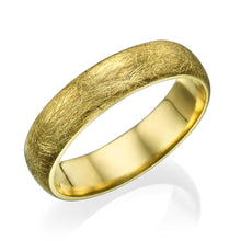 Load image into Gallery viewer, 5MM 14K Yellow Gold Brushed Finish Men Wedding Band