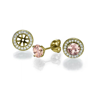 2 Carat 14K Yellow Gold Morganite & Diamonds