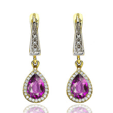 "Load image into Gallery viewer, 2 Carat 14K White Gold Amethyst ""Francie"" Earrings"