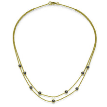 "Load image into Gallery viewer, 1.35 TCW 18K Yellow Gold Black Diamond ""Naila"" Necklace"