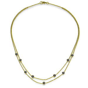 "1.35 TCW 18K Yellow Gold Black Diamond ""Naila"" Necklace"