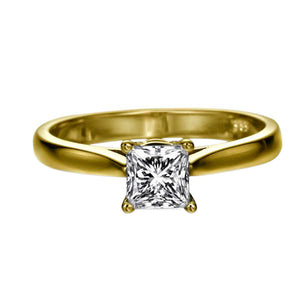 "1 Carat 14K White Gold Moissanite ""Fortune"" Engagement Ring"