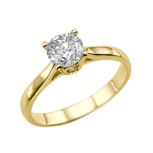 1 Carat 14K Yellow Gold Forever One Moissanite