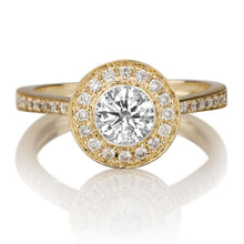 "Load image into Gallery viewer, 1.5 Carat 14K Rose Gold Moissanite & Diamond ""Julianne"" Engagement Ring"