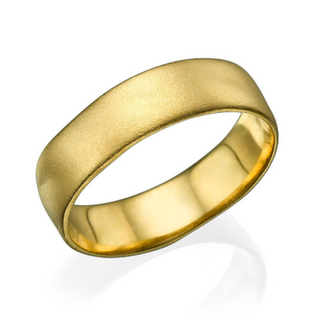 6MM 14K Yellow Gold Matte Finish Wedding Band