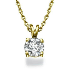 "Load image into Gallery viewer, 0.4 Carat 14K Rose Gold Diamond ""Una"" Pendant"