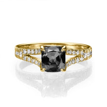 "Load image into Gallery viewer, 1.2 Carat 14K Rose Gold Black Diamond ""Dorothy"" Engagement Ring"