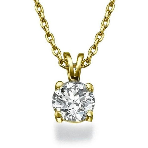 0.4 Carat 14K Yellow Gold Diamond