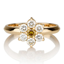"Load image into Gallery viewer, 0.49 TCW 14K White Gold Diamond Flower ""Nora"" Engagement Ring"
