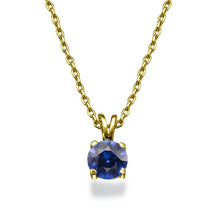 "Load image into Gallery viewer, 0.3 Carat 14K White Gold Blue Sapphire ""Una"" Pendant"