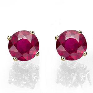 "0.4 Carat 14K White Gold Ruby ""Una"" Earrings 
