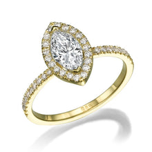 "Load image into Gallery viewer, 1.5 Carat 14K White Gold Moissanite & Diamonds ""Melanie"" Engagement Ring"