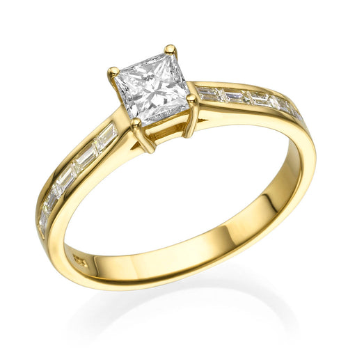 1.2 Carat 14K Yellow Gold Moissanite & Diamonds