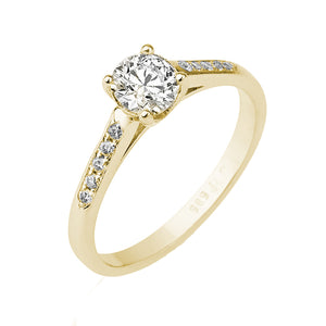 "0.6 Carat 14K Rose Gold Moissanite & Diamonds ""Melissa"" Engagement Ring"
