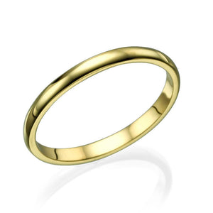2MM 14K Rose Gold Classic Men Wedding Band